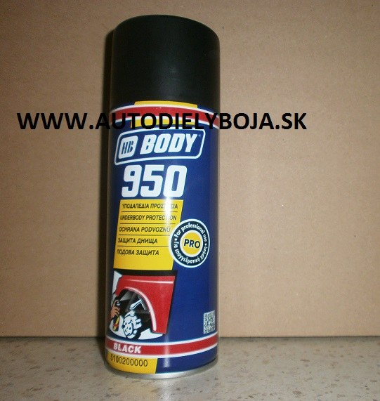 BODY 950 čierny spray 400ml